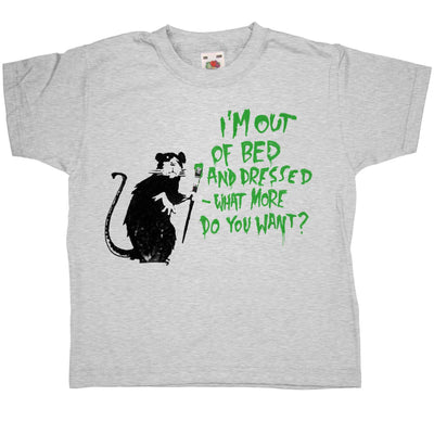 Banksy Kids T Shirt - Out Of Bed Rat
