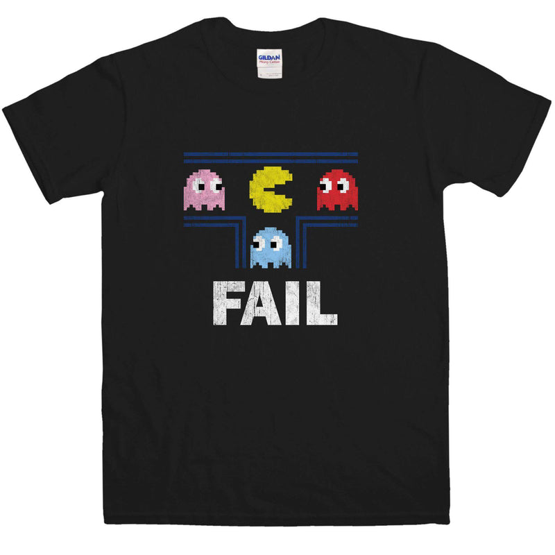 Pac-Man Fail Retro Gamer's T-shirt, Men's S to 3XL