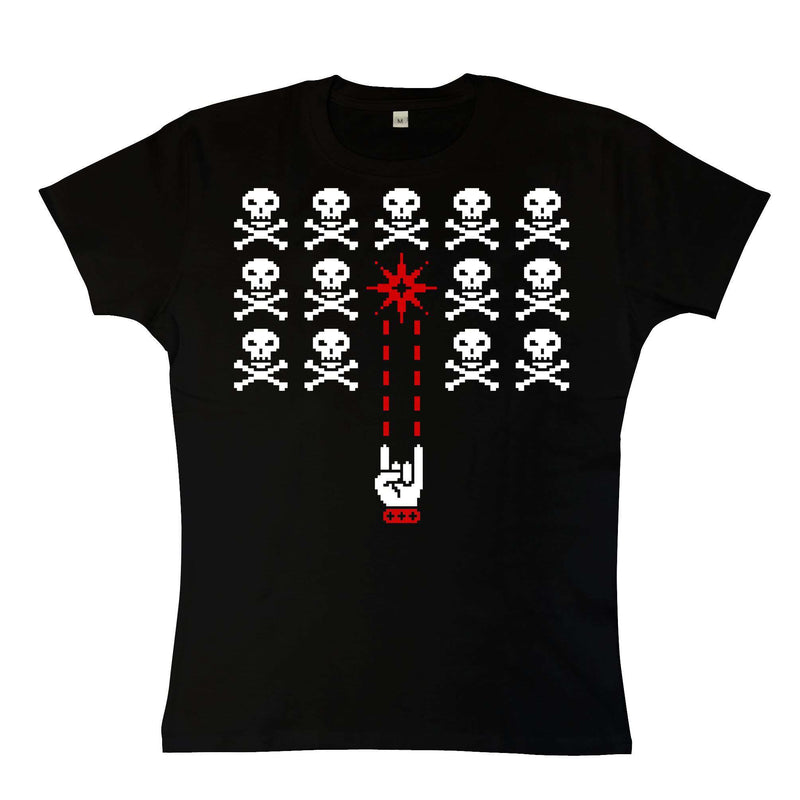 Skull Invaders T-shirt for Women. Sizes 6 to 18