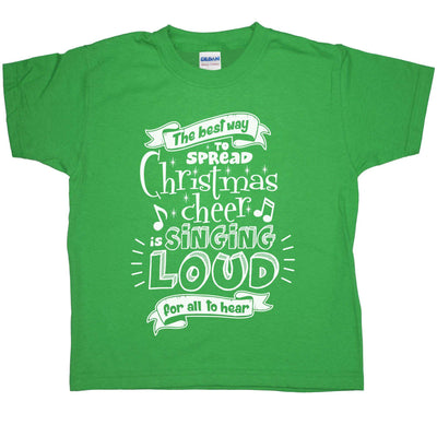 Kids Funny Christmas T Shirt - Spread Christmas Cheer