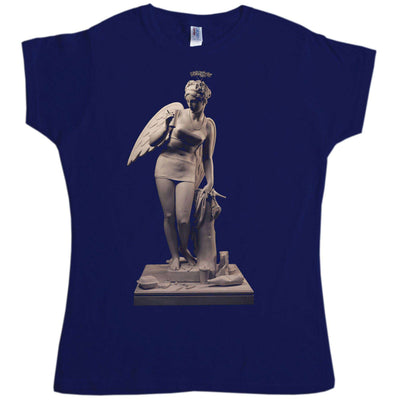 Banksy Womens T Shirt - Angel Statue