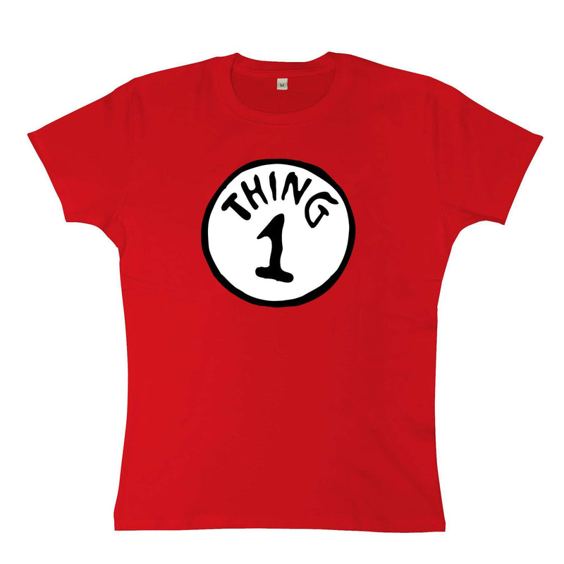 e4570302 Cat In The Hat Womens T Shirt - Thing 1 | 8Ball T Shirts