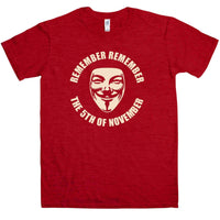 Guy Fawkes T Shirt - Remember Remember