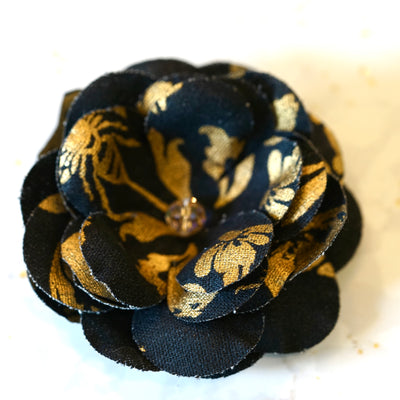 Black and Gold Premium Cotton Blossom