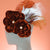 Large Burgundy Feather Hair Flower