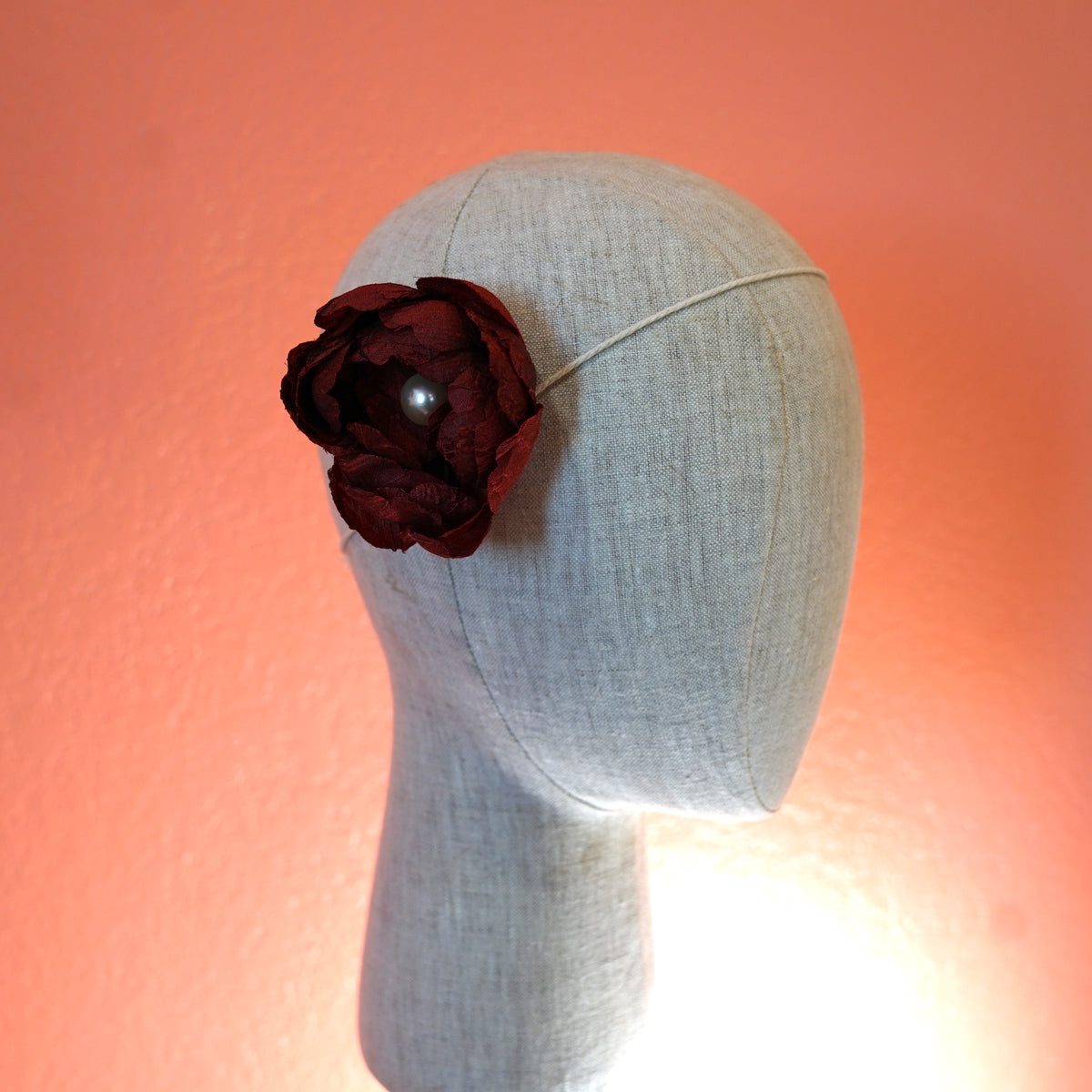 Red Rockabilly Hair Flower