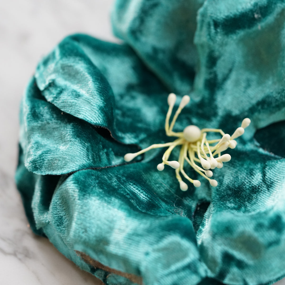 Blue Velvet Wild Rose Hair Flower