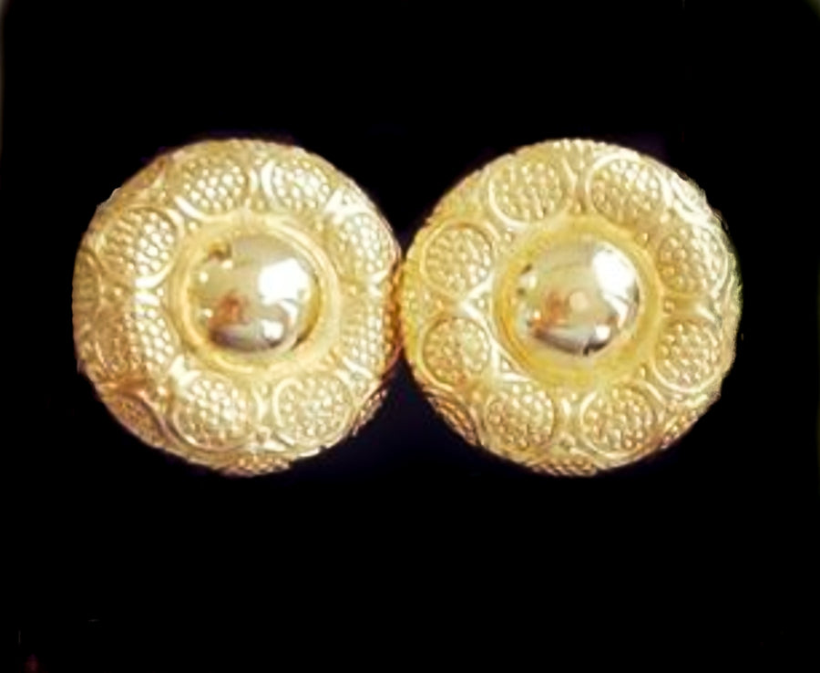 Vintage 1980 statement gold earrings