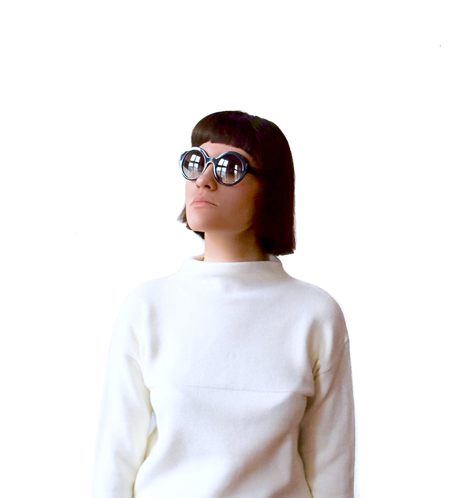 Vintage 1970s cream wool jumper