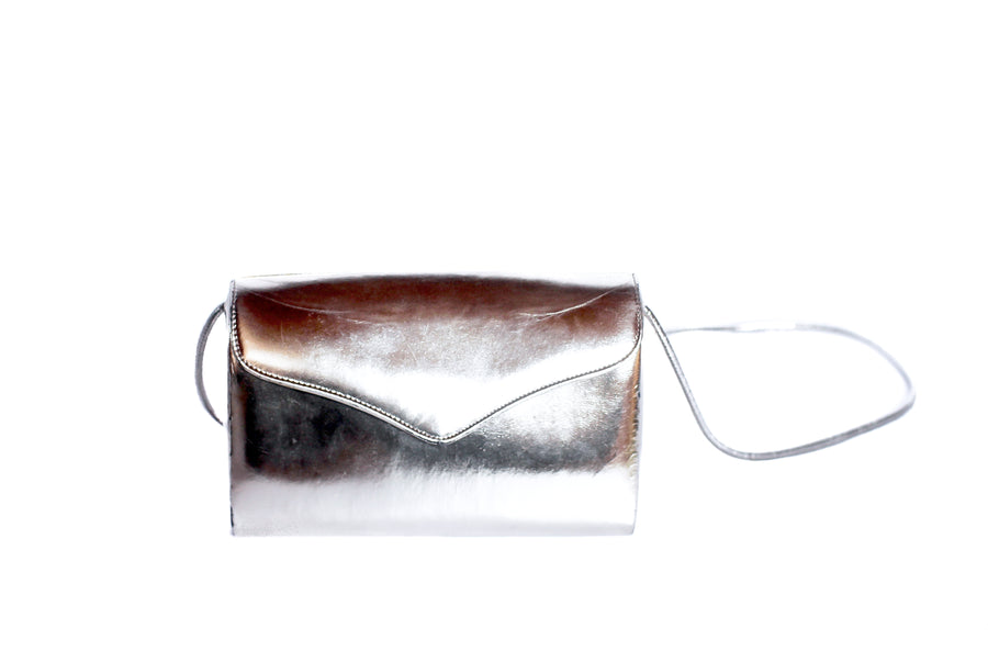 Vintage 1980s metallic shoulder bag