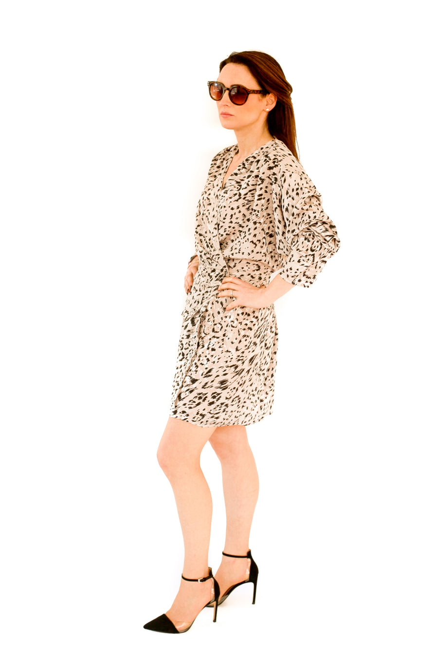 Vintage animal print party dress