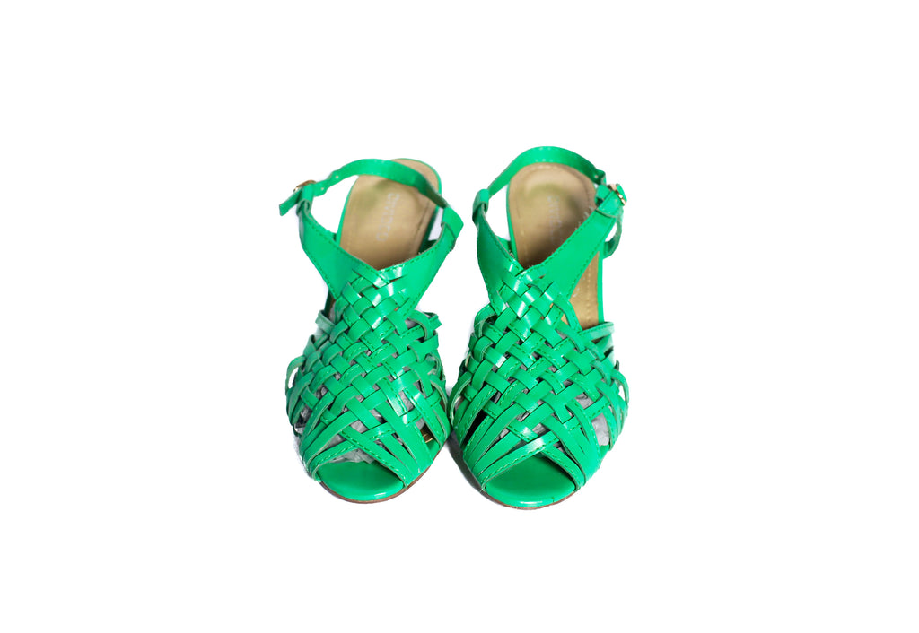 Vintage green slingback heels UK 5