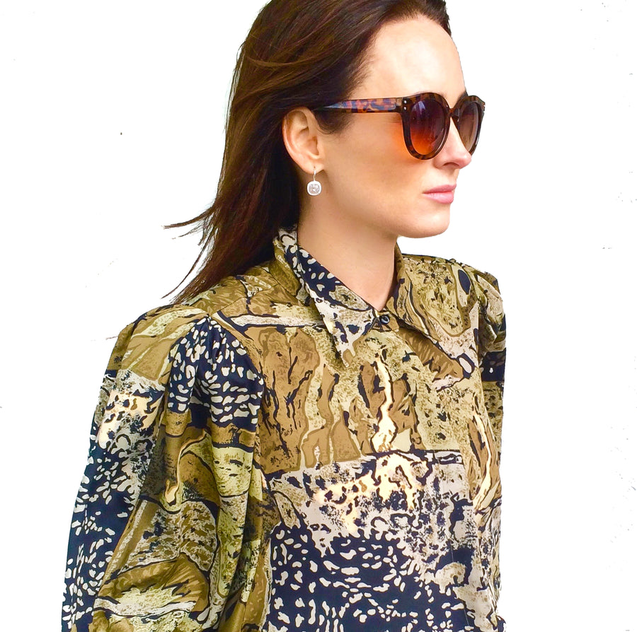 Vintage 90s abstract print blouse