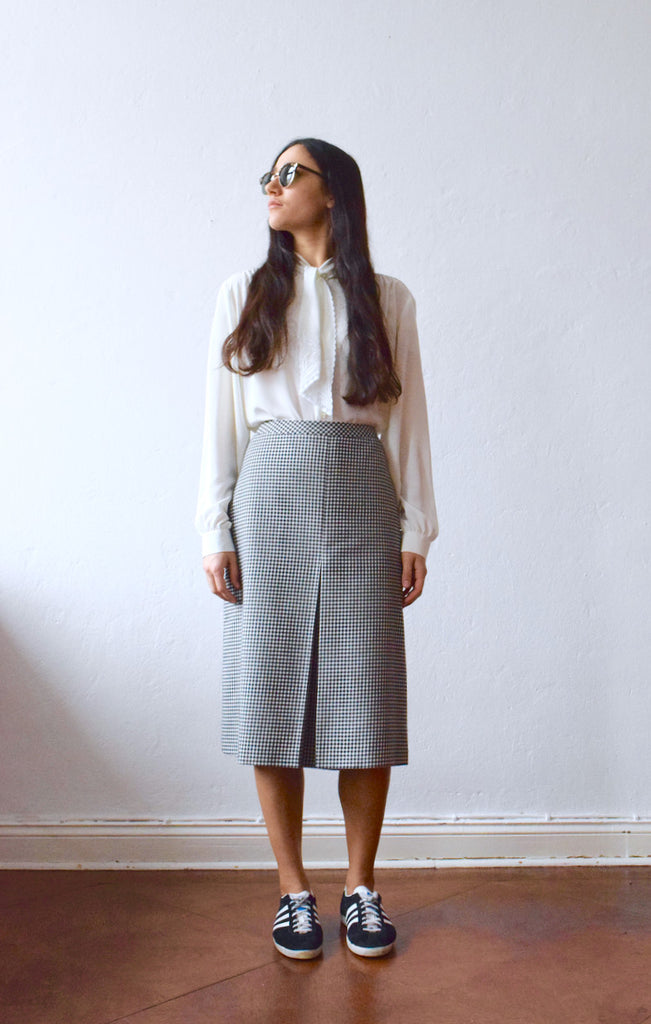 Vintage 1970s dogtooth skirt