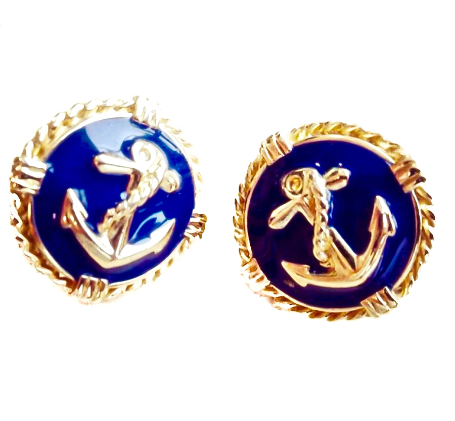 Vintage nautical earrings