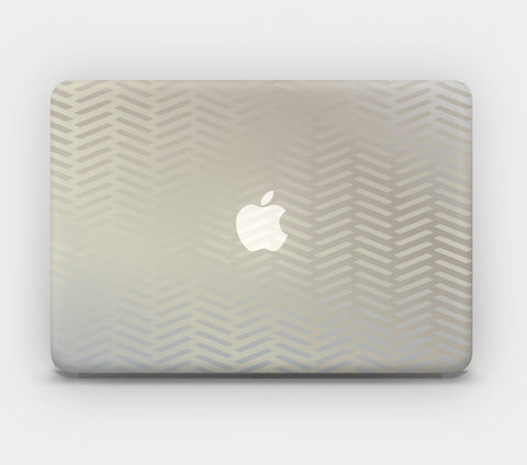 Transparent MacBook Skin - Art Deco Gold Pattern