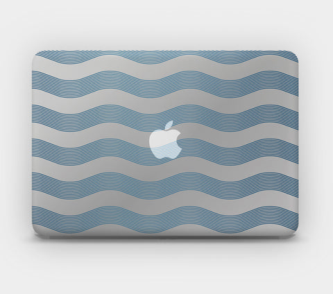 Transparent MacBook Skin - Art Deco Waves