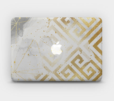 Transparent MacBook Skin - Gold Pattern 4
