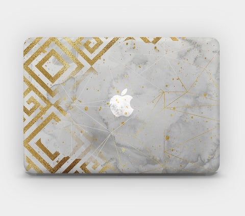 Transparent MacBook Skin - Gold Pattern 5