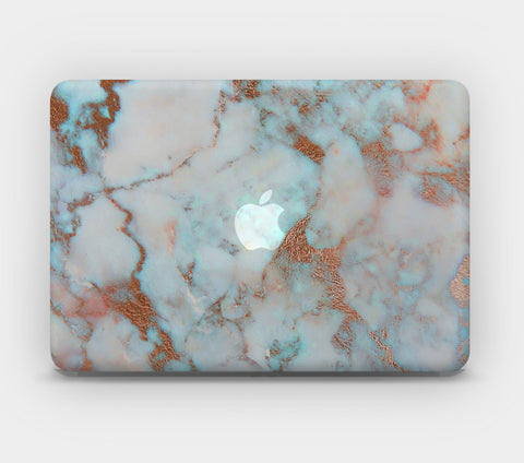 Transparent MacBook Skin - Light Blue Marble