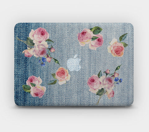 Transparent MacBook Skin - Jeans and Roses