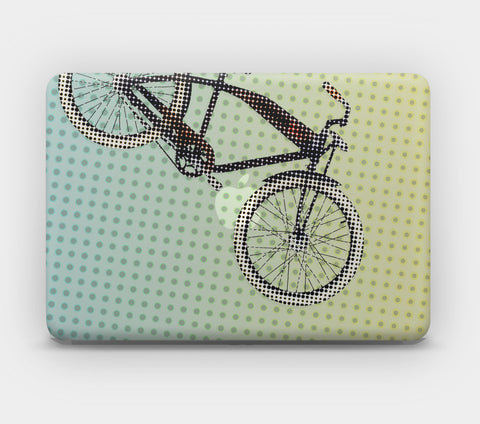 Transparent MacBook Skin - Bicycle