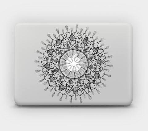 Transparent MacBook Skin - Mandala 22
