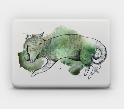 Transparent MacBook Skin - Clever Wolf