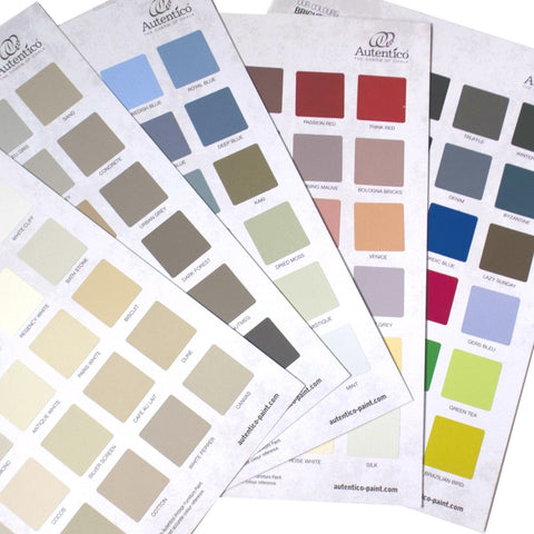 Autentico Colour Charts