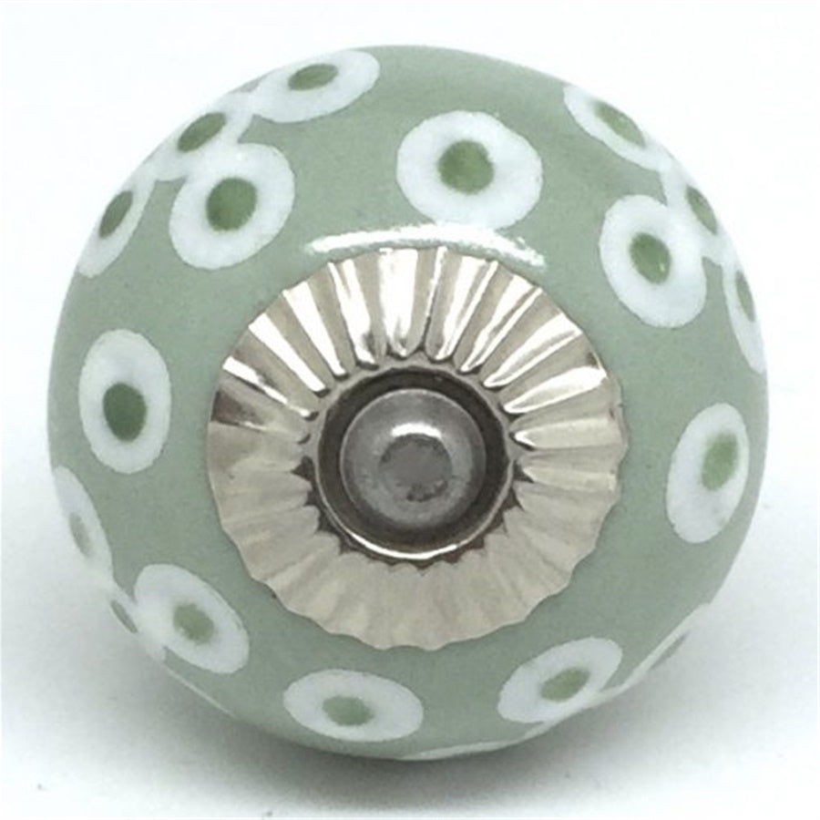 Round  Handle - Green Spring Blossom