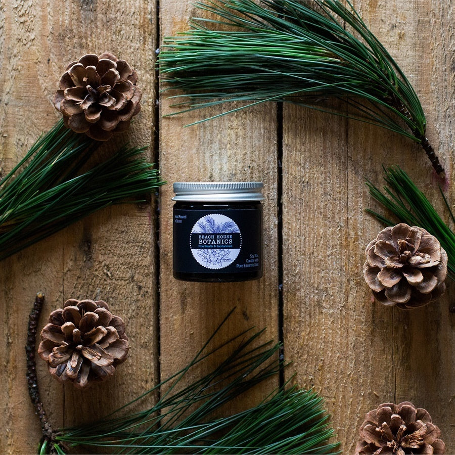 Pine Needle & Sandalwood Mini Jar Candle (60ml)