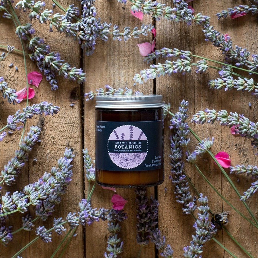 Rose Geranium & Lavender Medium Jar Candle(180ml)
