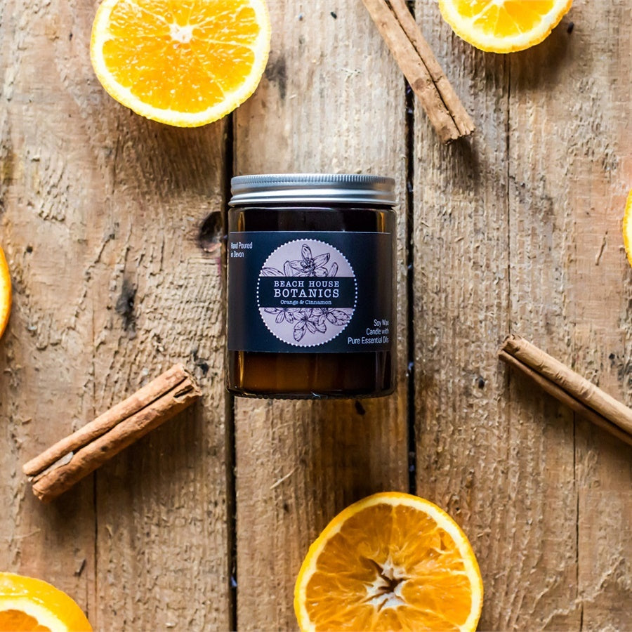 Orange & Cinnamon  Medium Jar Candle (180ml)