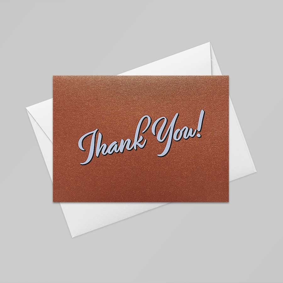 Thank You Card (Casino Gold)
