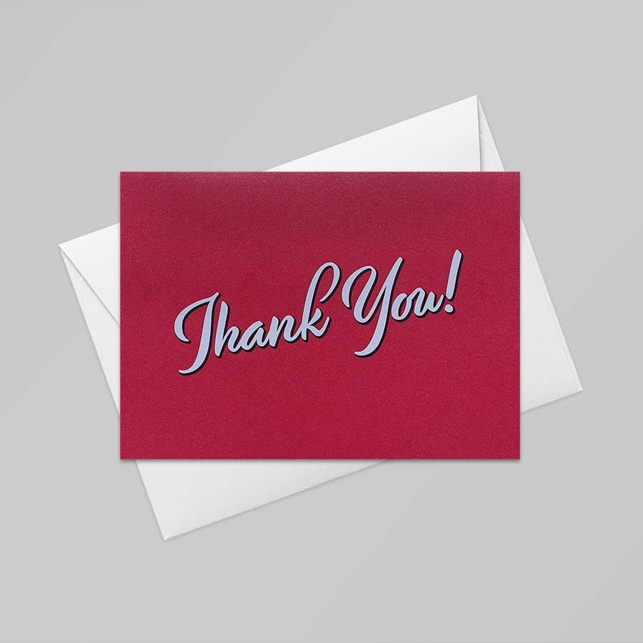 Thank You Card (Emperor Red)