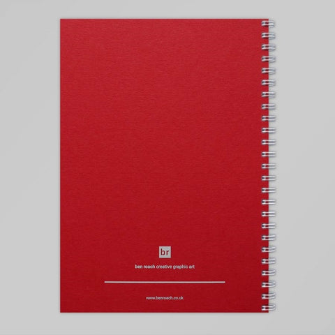 Lovers A5 Notebook (Bright Red)