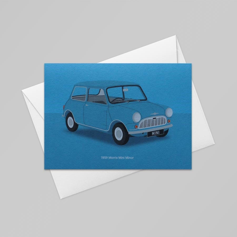 1959 Morris Mini Card (Tabriz Blue)