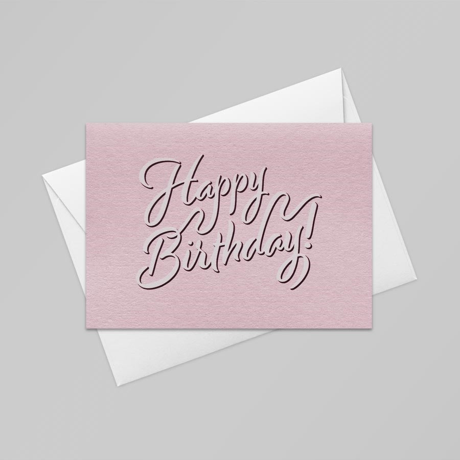 Happy Birthday Card (Candy Pink)