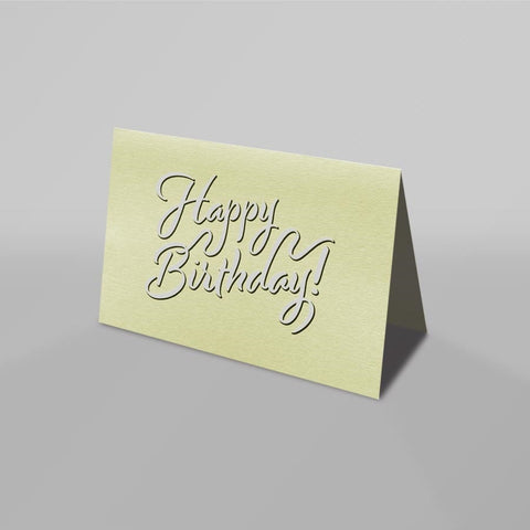 Happy Birthday Card (Sorbet Yellow)