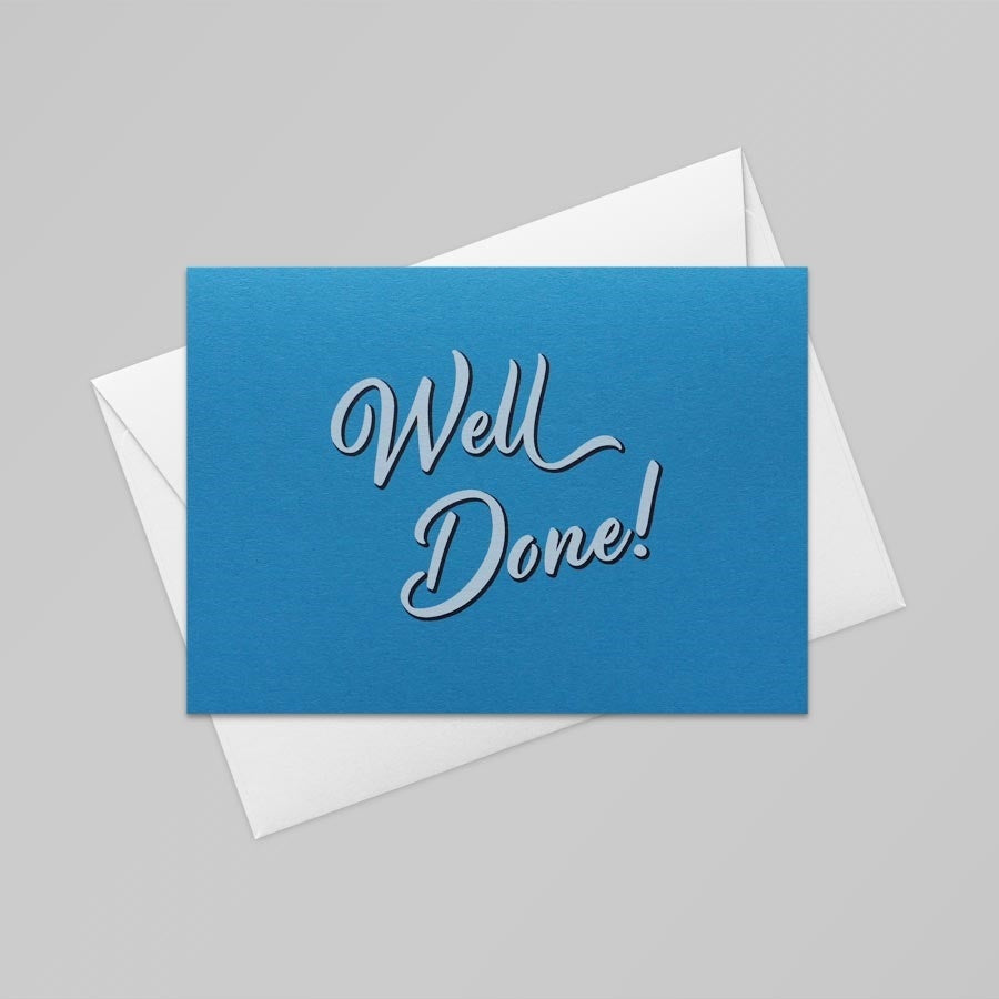 Well Done Card (Tabriz Blue)