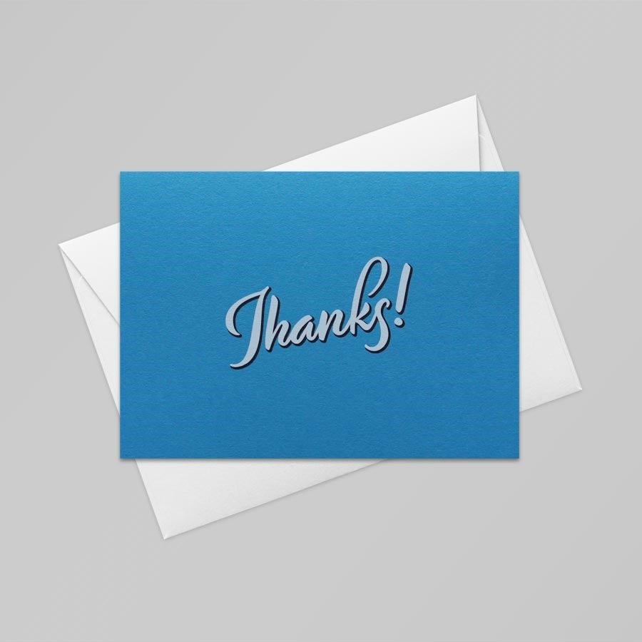Thanks Card (Tabriz Blue)