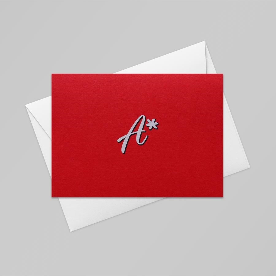 A* Card (Bright Red)