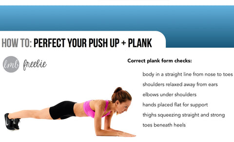 FREEBIE - How To: Perfect Your Push Up + Plank - livingmovingbeing