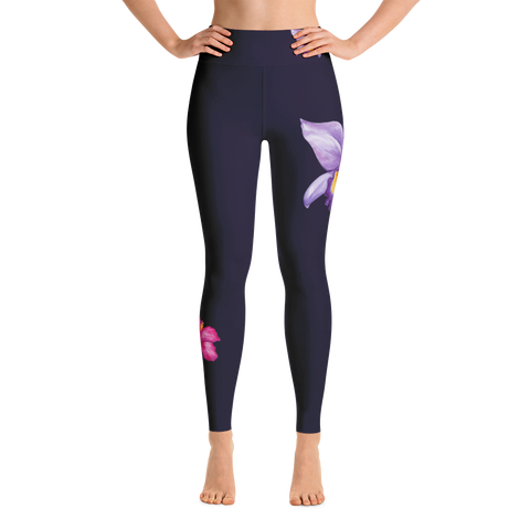 Special Edition* night orchid - full-length yoga leggings