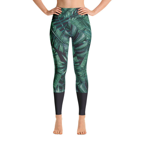night fern - full length yoga leggings