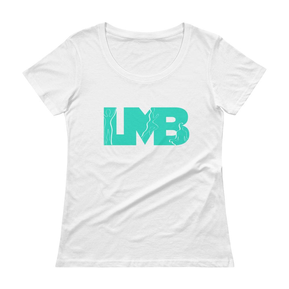 Scoop Neck Bold LMB Women's Tee (white)