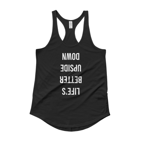 upside down women's tank (black)
