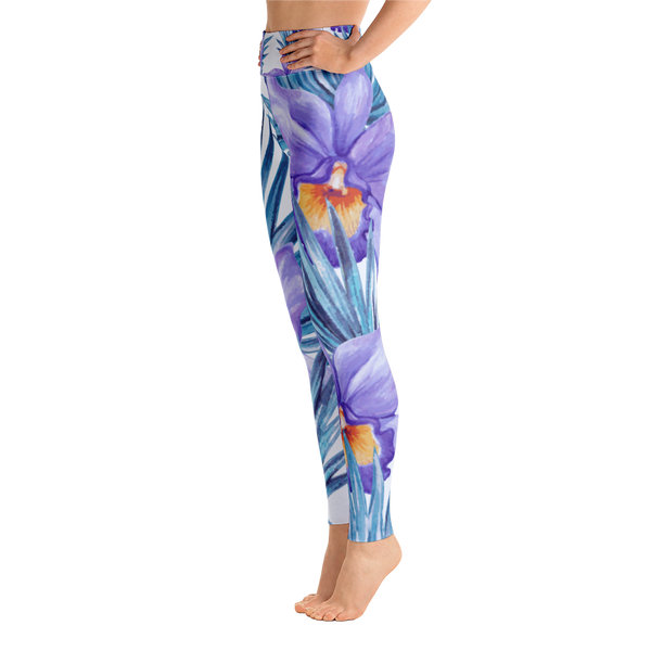 purple chill - full length yoga leggings