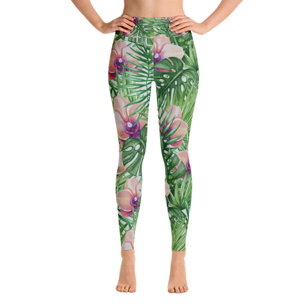 fresh blooms - full length yoga leggings
