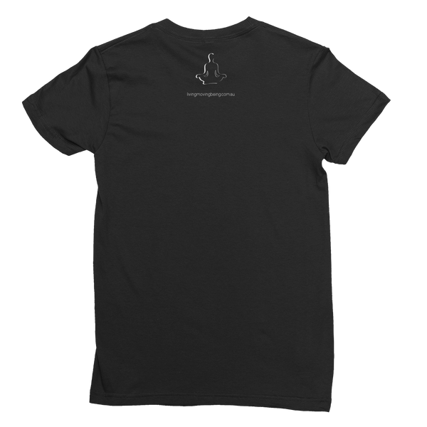namaste women's tee (black and navy)